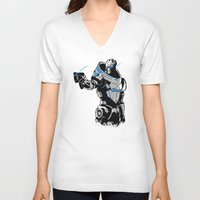 garrus V-neck T-shirts featuring Garrus Vakarian by Logan Niblock
