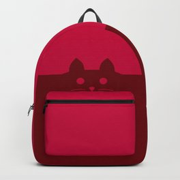 Meow Cat Red Pink Backpack