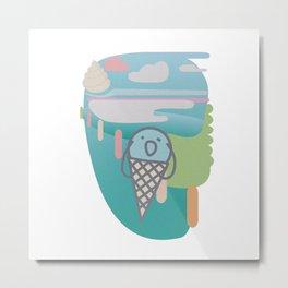 ice cream , scream 2 Metal Print