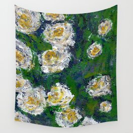 White flowers - Botanical Wall Tapestry