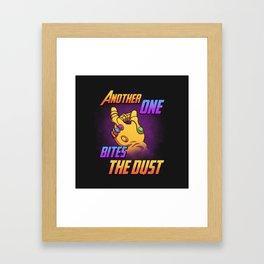 Bites the Dust Framed Art Print