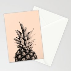 Pineapple on Pink Stationery Cards