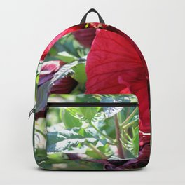 Luna Red Hibiscus Backpack