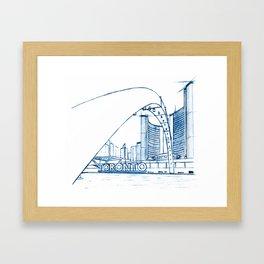 BluePrints | City Hall - Toronto Framed Art Print
