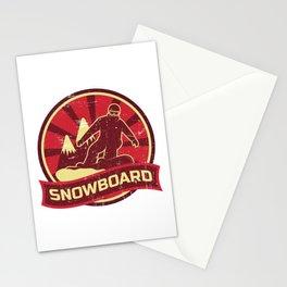 Snowboard Propaganda   Winter Sports Stationery Cards