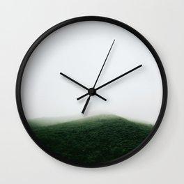Basecamp mountain. Wall Clock
