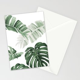 Monstera and Banana Leaves Stationery Cards