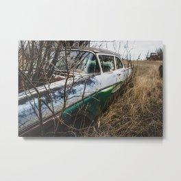 Car Graveyard Metal Print