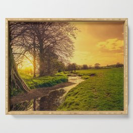 Dawn On The Dearne Serving Tray