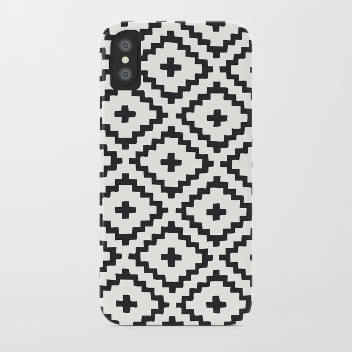 geometric diamond pattern iPhone Case