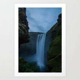 Cascading Waterss Art Print