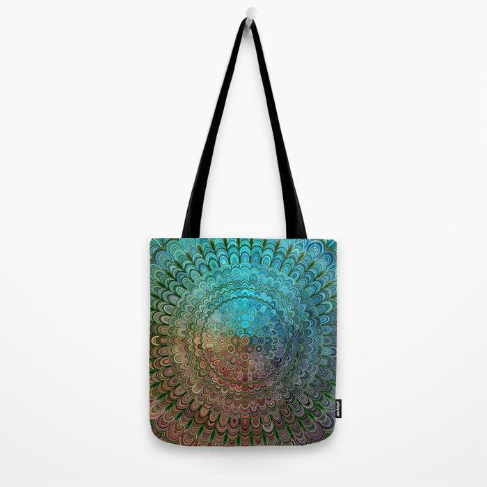 Cold Metal Flower Mandala Tote Bag