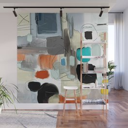multicolored and geometric digital drawing Wall Mural