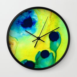 New Life - Green and Blue Art by Sharon Cummings Wall Clock