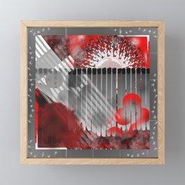 Pictures of Matchstick Men Framed Mini Art Print