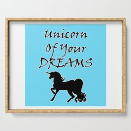 Unicorn Of Your Dreams (Black) Serving Tray