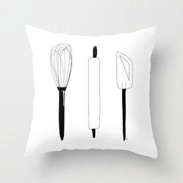 Baking Weapons Throw Pillow