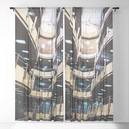 Curved walkways Sheer Curtain