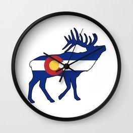 Colorado Flag Elk Wall Clock