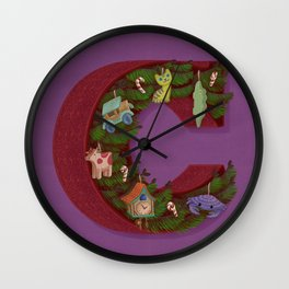 C is for Christmas Wall Clock