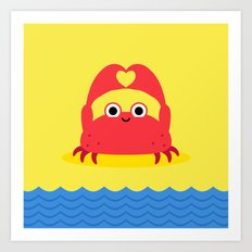 I Love the Beach Art Print