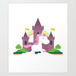 Funny Unicorn For Women Girls Art Print