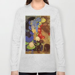 "Odilon Redon ""Woman among the Flowers"" Long Sleeve T-shirt"