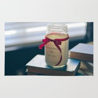 pride and prejudice Area & Throw Rugs featuring Pride & Prejudice Mason Jar by {she tells stories}