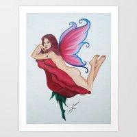 FLIRTY FAIRY KATE Art Print