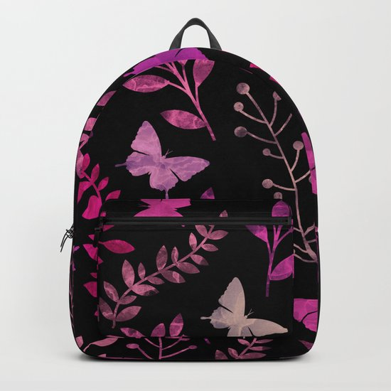 Watercolor flowers & butterflies III Backpack