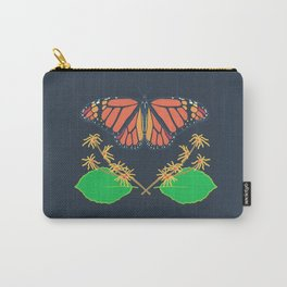 Monarch Butterfly + Witch Hazel Carry-All Pouch