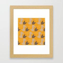 Clover&Nessie  Mandarin/Mocha Framed Art Print