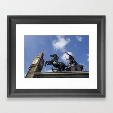 Boadecia and Big Ben Framed Art Print