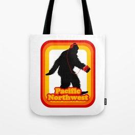 Retro Sasquatch Pacific Northwest Tote Bag