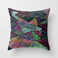 maps Throw Pillows featuring Maps by Hipsterdirtbag