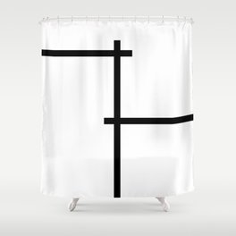 Line intersections Shower Curtain