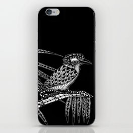 Tangled Kookaburra on Black iPhone Skin