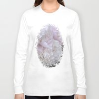 peonies Long Sleeve T-shirts featuring Peonies by DuniStudioDesign