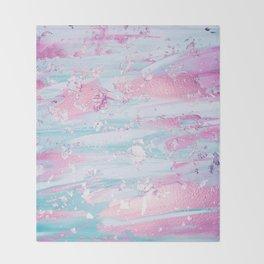 Shine Shimmer Pastel Pink and Blue Modern Throw Blanket