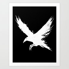 The Raven (Black Version) Art Print