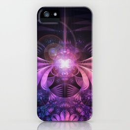 A Glowmoth of Resplendent Violet Feathered Wings iPhone Case