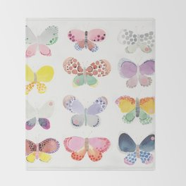 Painted butterflies Throw Blanket