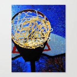 Basketball art swoosh 6 Canvas Print