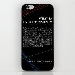 Philosophia I: What is Enlightenment? iPhone Skin