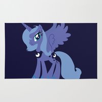mlp Area & Throw Rugs featuring Princess Luna by Adrian Mentus