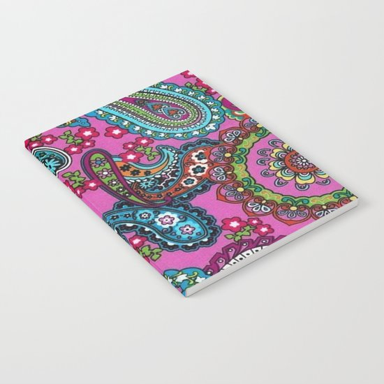 Floral Paisley Pattern 03 Notebook