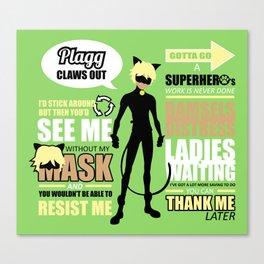 Cat Noir Quotes Canvas Print