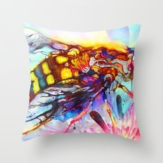 Bee Color-indulged Version Throw Pillow