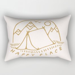 happy camper Rectangular Pillow