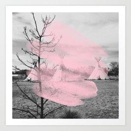 Pink Texas / Marfa Art Print